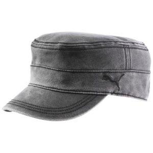 Puma Vintage Military Grey Distressed Cap Hat OS
